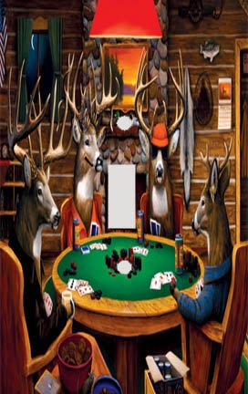 Deer Poker Decorative Switchplate Cover