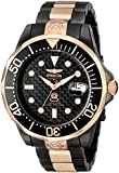 Invicta Men's 10643 Pro Diver Automatic Black Carbon Fiber Dial Two Tone Stainless Steel Watch