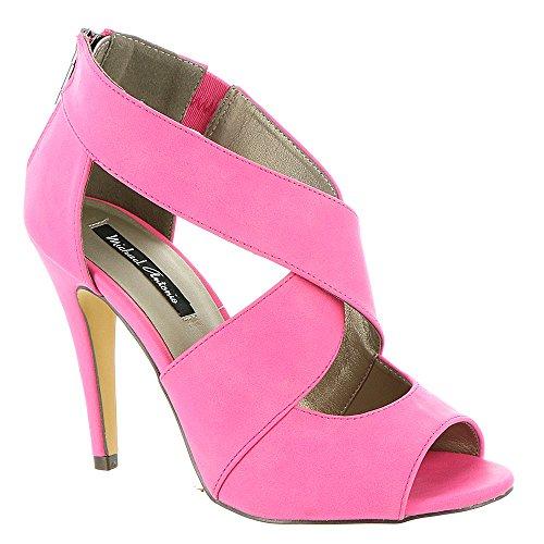 Michael Antonio Women's Lovey Dress Sandal, Pink, 9 M US