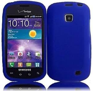 Silicone Soft Case Skin Cover for Straight Talk Samsung Galaxy Proclaim 720C SCH-S720C - Blue
