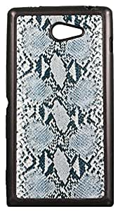 Zeztee ZT6940 Multicolor print Mobile Back Cover For Sony Experia M2Dual
