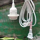 Single Socket Pendant Light Cord Kit for Lanterns (15FT, UL Listed, White)
