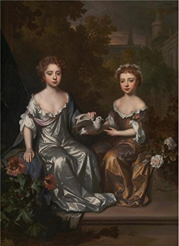 The High Quality Polyster Canvas Of Oil Painting 'Willem Wissing - Portrait Of Henrietta And Mary Hyde,1683-1685' ,size: 8x11 Inch / 20x28 Cm ,this Amazing Art Decorative Prints On Canvas Is Fit For Bathroom Artwork And Home Decoration And Gifts (Fireplace Glass Doors Gunmetal compare prices)
