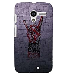 FUSON 3D Designer Back Case Cover for MOTOX D9656