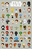 "Star Wars - Movie Poster / Print (8-Bit Character Montage) (Size: 24"" x 36"")"