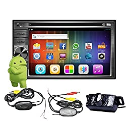 See Wireless camera+Pupug 6.2 inch Pure Android 4.2 Universal Double Din In Dash Car DVD Player GPS Navigation Stereo AM/FM Radio Support Bluetooth 3G Wifi Airplay/iPhone 6 Screen Mirroring 1080P DVR 7 Color Button Illuminations Details