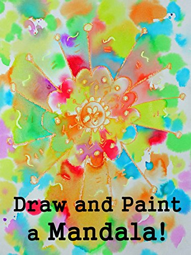Drawing and Watercolor Painting a Mandala Design for Kids