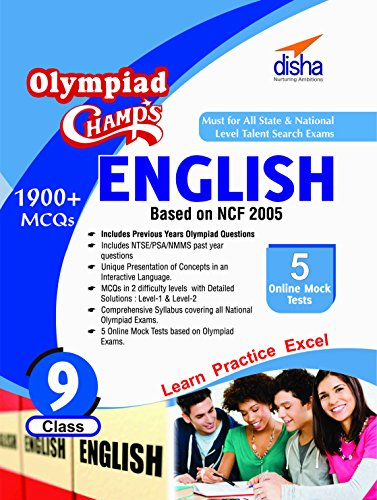 Olympiad Champs English - Class 9 with 5 Mock Online Olympiad Tests