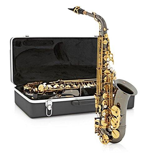 Sassofono contralto Gear4music nero & placcatura in oro