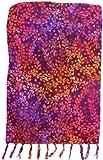 Bright Red, Purple & Orange Sarong