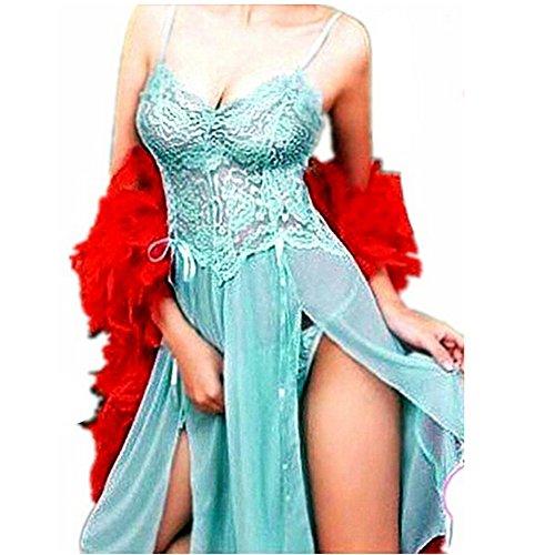 Sexy Damen Grün Babydoll Negligee Kleid String Nachtkleid Reizwäsche Übergrößen