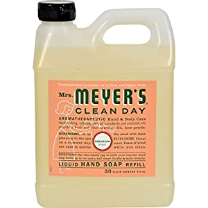 Mrs Meyers Clean Day Geranium Liquid Hand Soap Refill, 33 Fluid Ounce -- 6 per case. by Mrs. Meyers Clean Day