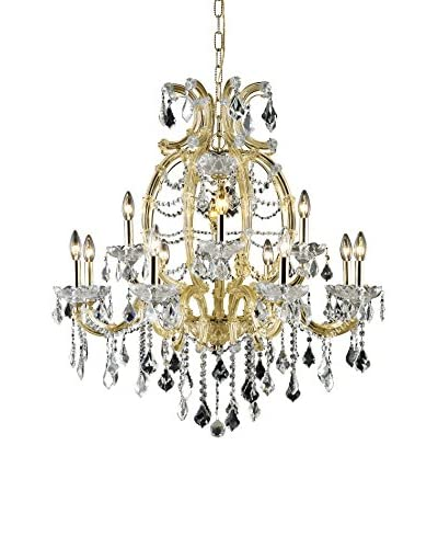 Crystal Lighting Maria Theresa 10-Light Chandelier, Gold