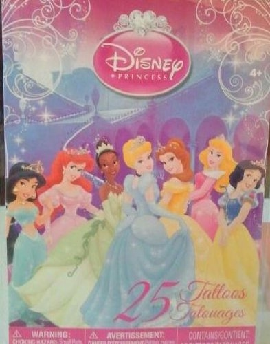 Disney Princess 25 Temporary Tattoos - 1