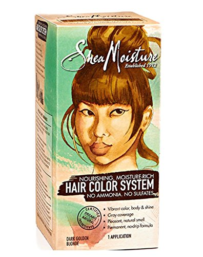Shea Moisture Dark Golden Blonde Hair Color System - Sulfate-Free Permanent Hair Dye With No Ammonia - Salon Quality Moisture, Strength & Shine (Shea Moisture Dye compare prices)