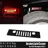 MAIKER Balck Jeep Wrangler Third Brake Light Cover for 2007 - 2017 Jeep Wrangler Unlimited JK JKU Rubicon Sahara Sport X S