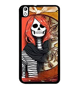 PrintDhaba Funny Skeleton D-4105 Back Case Cover for HTC DESIRE 816 (Multi-Coloured)
