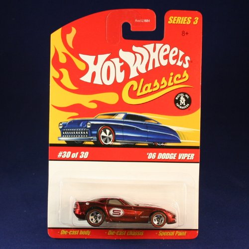 '06 DODGE VIPER (RED) 2006 Hot Wheels Classics 1:64 Scale SERIES 3 Die Cast Vehicle