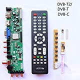 Xennos Z.VST.3463.A1 V56 V59 general DS.D3663LUA.A8-1-A LCD Driver Board Support DVB-T2 TV Board with 7kry board+ir+remate control - (Plug Type: T2)