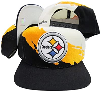 Pittsburgh Steelers Snapback Adjustable Plastic Snap Mitchell & Ness Hat / Cap