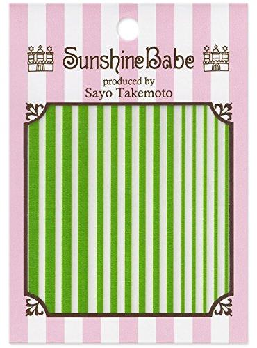 SunshineBabe ネイルシール ストライプ グリーン mix