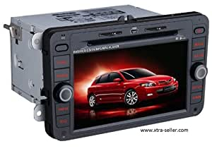 Autoradio 7 pouces HD GPS DIVX DVD MP3 USB SD TV RDS Bluetooth IPOD avec CAN BUS pour Volkswagen Jetta Golf V VI Passat Eos Tiguan Caddy Scirocco et Touran