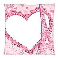 "AKF Custom Eiffel Tower Cushion Pillowcase Covers 18""x18"" Twin Sides by AKF Shop"
