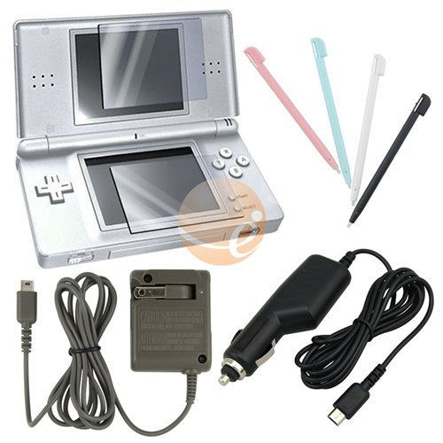 4 Accessories Bundle Charger For Nintendo DS Lite NDSL