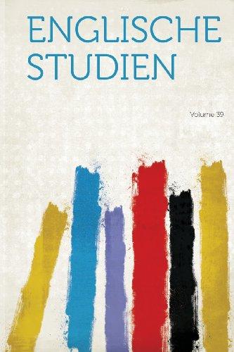 Englische Studien Volume 39