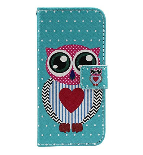 Toopoot(Tm) Polka Dot Owl Flip Stand Pu Leather Cover For Lg Optimus L90 D410 D405 D415