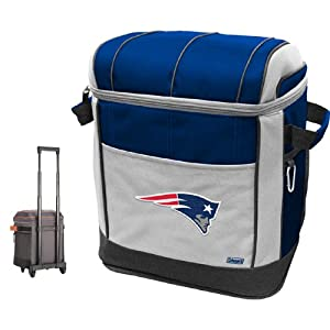 Buy NFL New England Patriots 50 Can Soft Sided Rolling Coleman Cooler by Licensed Products