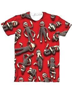 Sock Monkey Various Photo Realistic Poses Sublimated T-Shirt