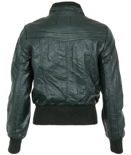 KRISP Womens PU Leather Biker Jackets Size 4 6 8 10 12 14 16 18 20