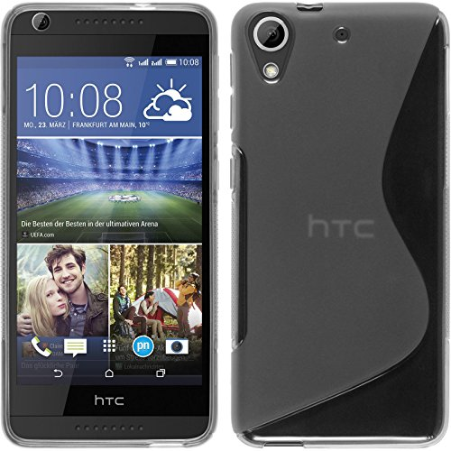 PhoneNatic HTC Desire 626 Hülle Silikon clear S-Style Case Desire 626 Tasche + 2 Schutzfolien