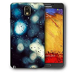 Snoogg Water Drops On Glass Printed Protective Phone Back Case Cover For Samsung Galaxy NOTE 3 / Note III