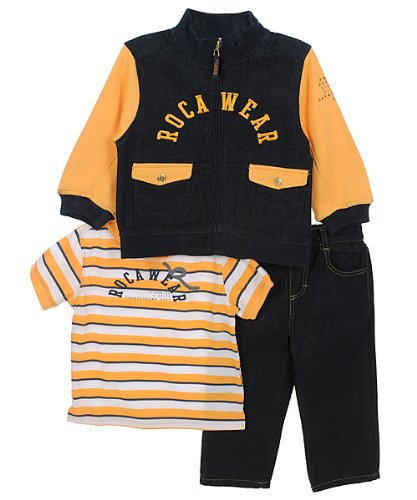 "Rocawear ""Master Builders"" 3-Piece Outfit (Sizes 12M - 24M) - navy, 18 months"