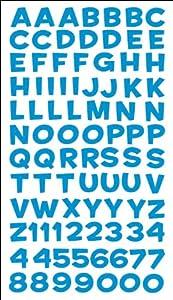 Sticko alfabeto Stickers-Funhouse blu metallizzato   Comentarios y más información