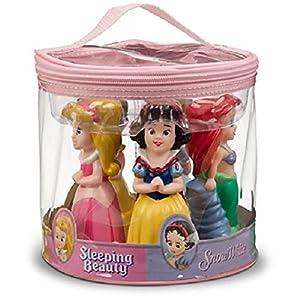 Disney Parks Princess Bath Pool Squeak Toys Set Including Ariel, Belle, Aurora, Cinderella, and Snow White