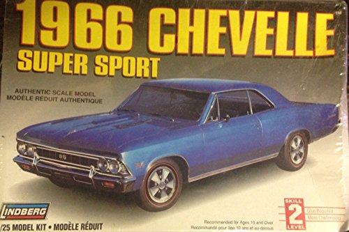 Lindberg 1966 Chevelle Super Sport 1:25 Scale Model Kit (Chevelle Super Sport compare prices)