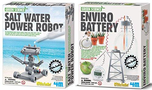 4m Green Enviro Battery Amp Salt Water Powered Robot Science