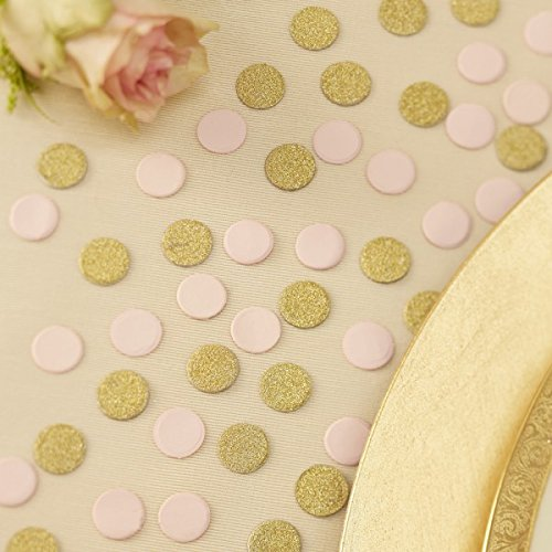 Ginger Ray PP-620 Pastel Perfection Gold Glitter And Pastel WeddingParty Table Confetti, Pink