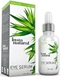 InstaNatural Eye Serum For Dark Circles & Puffiness - Reduces Bags, Wrinkles, Fine Lines, Sagging Skin & Puffy Eyes - With Vitamin C, Caffeine, Plant Stem Cells, Astaxanthin & Kojic Acid - 1 Oz