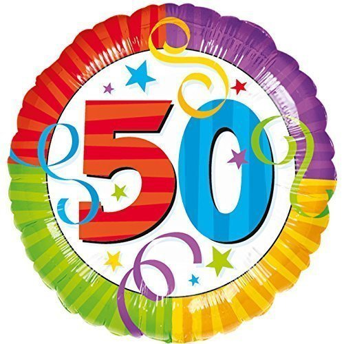 "Anagram International Aged to Perfection ""50"" Foil Balloon, 18"", Multicolor - 1"