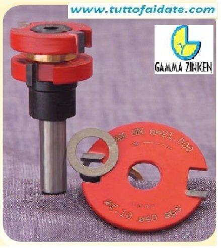 Set fresa per legno per giunzioni e perline per pantografo Gamma Zinken-Gambo diametro 6 mm