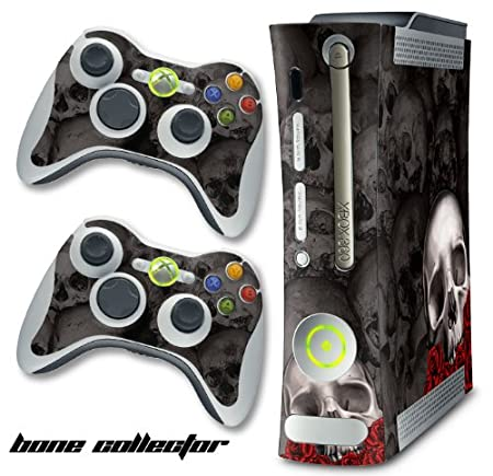 New XBOX 360 Console Protective Decal Skin - BoneCollector - Black