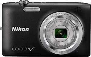 Nikon Coolpix S2800 Point and Shoot Digital Camera with 5x Optical Zoom (Black) International Version No Warranty