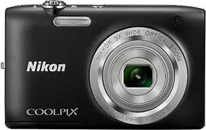 """Nikon CoolpixS2800 Appareil photo numérique compact 20,48 Mpix Écran LCD 2,7"""" Zoom optique 5X Noir"""