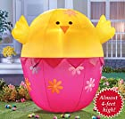 Easter Chick Inflatable Light Up Yard Decoration