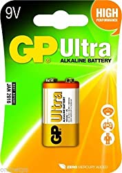 10 Pcs of Godrej GP 9V Ultra Alkaline Cell Battery MRP1800