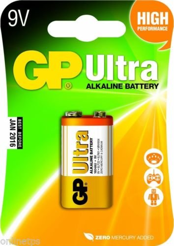 10 Pcs Of Godrej GP 9V Ultra Alkaline Cell Battery